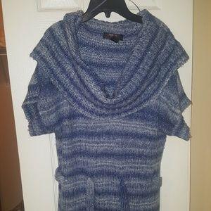 Blue multicolor sweater